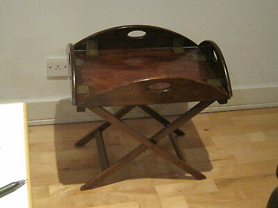 rare  ANTIQUE mahogany butlers tray, half scale, treen   C.1780