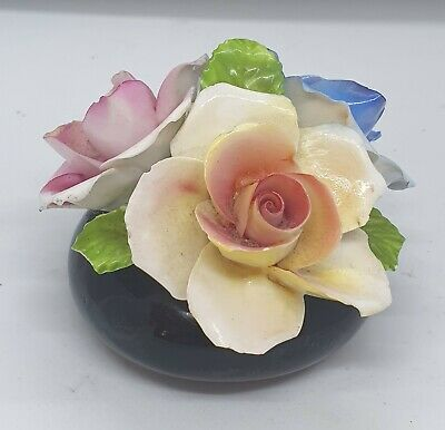 Vintage Fine Bone China Porcelain Bowl Of Floral Flowers Rose