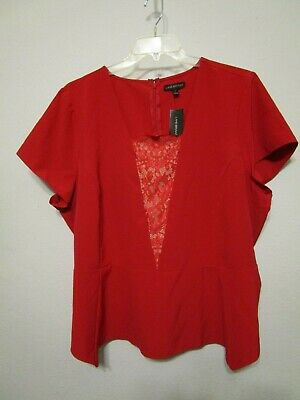 Women's plus 26 Lane Bryant red blouse, new with tags