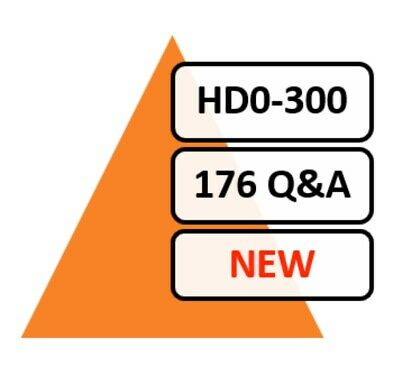 2020 Updated HD0-300 Exam 176 Q&A PDF File!
