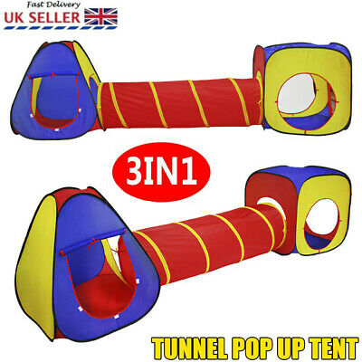 3in1 Portable Childrens Kids Baby Play Tent Tunnel Ball Pit Playhouse Pop Up new