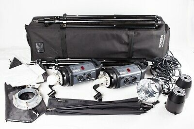 Bowens Esprit Gemini GM500. A 2 Head Flash Outfit, Stands, Softbox, Brolly, Case