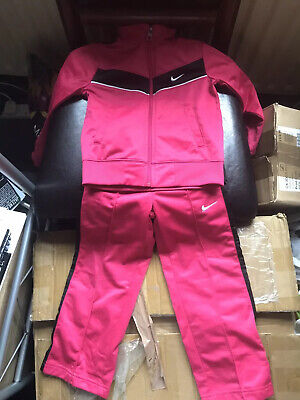 NIKE Baby Girl Tracksuit Zip Top Jacket & Joggers 5 Months Pink Good Condition
