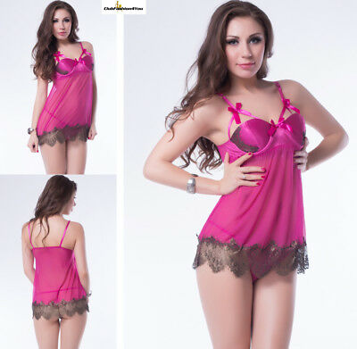 Sexy Lingerie Shelf Romance Sexy Rose Red Lace Babydoll XS-S R7964