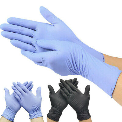 100PC Nitrile Gloves Disposable Latex Free Exam Gloves Powder Free for Home Safe