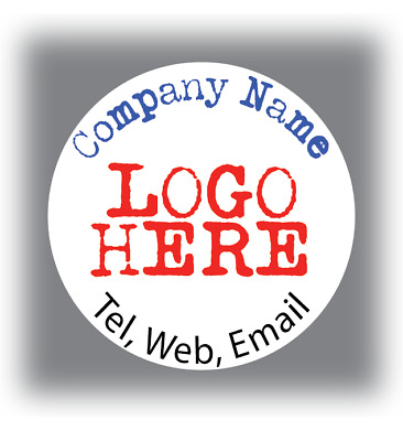 105 Personalised Business Name Stickers Your Logo Thank You Seals Labels Address