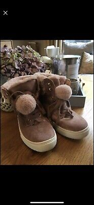 Amazing Luxuriously Soft Suede Pink Girls Uk 3 Practically New River Island