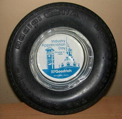 B F Goodrich Rubber TIRE ASHTRAY New Ulm Minnesota 1980
