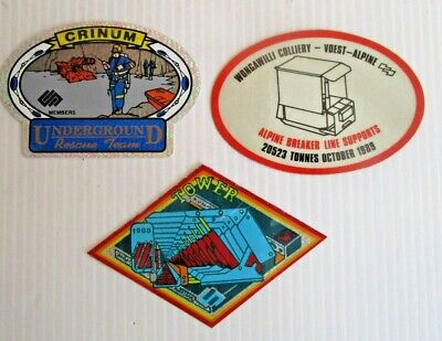 Vintage Mining Stickers X 3  - Postage $1.50 - Buy It Now - #126