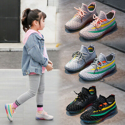 New Kids Boys Girls Sneakers Casual Outdoor Sports Running School Shoes Big Size