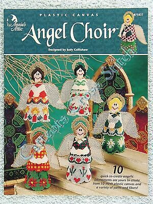 Plastic Canvas Pattern Angel Choir Christmas Needlepoint Ornaments Quick OOP