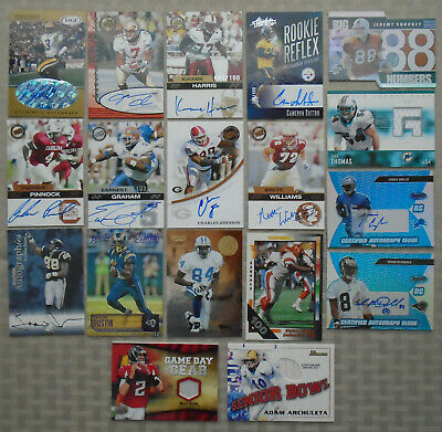 NFL Football Card Lot Autographed Signed