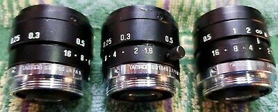 Tamron 1:1.6 25mm C-Mmount Lens, Excellent Condition