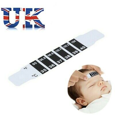 Forehead Thermometer Strip Baby Child Fever First Aid Medical Adult Temperature