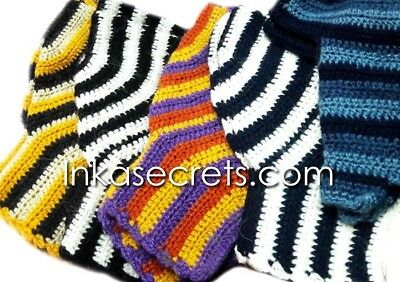 10 Multi-Striped Alpaca Fingerless Gloves