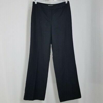Ann Taylor Pants 6 Women's Black Straight Mid Rise Dress Trousers Career Lined