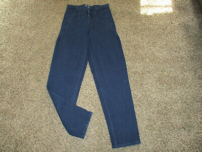 VINTAGE MENS NAVY BLUE GUESS BRAND 10075 JEANS sz 29x34 made in USA 100% cotton