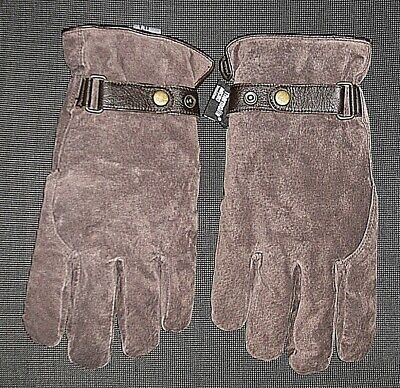 Brown Suede Leather Thermolite Gloves Men's Size Xl