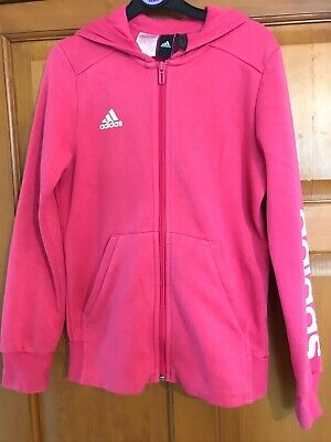 Girls Adidas Hoodie Hoody 11-12 Years Hot Pink Zip Up