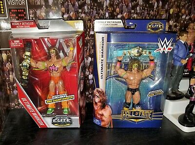 WWE WWF Mattel Elite Ultimate Warrior Lost Legends Hall of Fame lot Figure MOC
