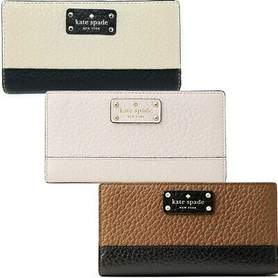 Kate Spade New York Women's Bay Street Stacy Pebbled Leather Long Wallet