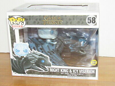 Funko Pop Rides 58 Game of Thrones Night King Icy Viserion Glow In The Dark MISB