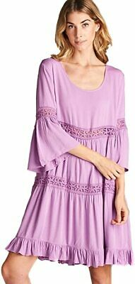 JODIFL Dress Chic Peasant Boho Bohemian Flowy Dress Sizes Small /& Large R552