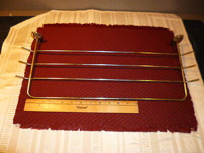 Vintage Retro Early-Mid Century Chrome Kitch/Bath Multi Towel Bar Architectural