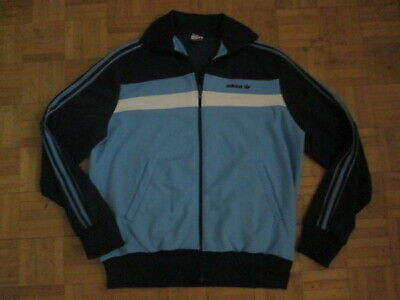 Genuine Vintage Adidas Ventex Tracksuit Top - 1980's Made in France - Size Large