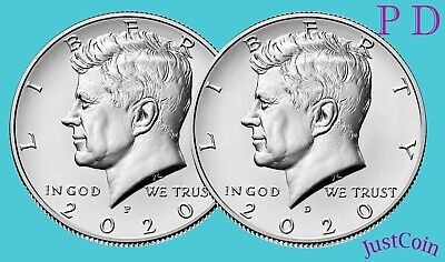 2020 P&D Kennedy Half Dollar Set Clad Two Coins Set Uncirculated Presale May 04