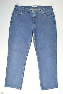 RIDERS by Lee Sz 16 M RELAX FIT STRAIGHT LEG Womens Med Wash Denim Blue Jeans
