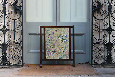 COUNTRY HOUSE SALE Antique Arts Crafts Liberty Sampler Embroidery,Fire Screen