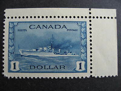 Canada $1 WWII Destroyer Sc 262, MH nice stamp, check it out!