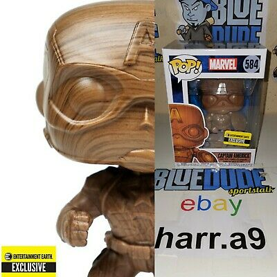 Entertainment Earth Exclusive!: Funko Captain America Wood Deco Pop/Bobblehead!
