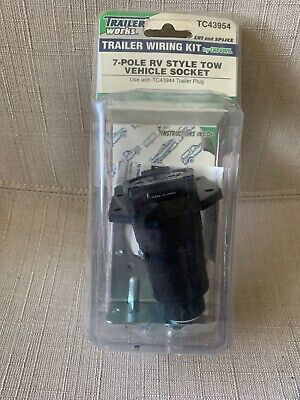 7 Pin Trailer Blade Connector 7 Way Pole Round Trailer End RV Electrical Socket