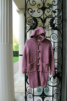 Next Vintage Girls Longline Hooded Duffle Cardigan,Jacket,Retro 90s age 7-8 year