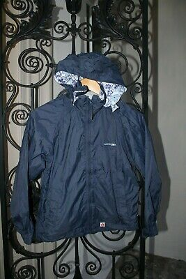 Girls Navy Blue TRESPASS Kagool,Raincoat,Rain Mac w Hood,Coat,Jacket,9-10 years