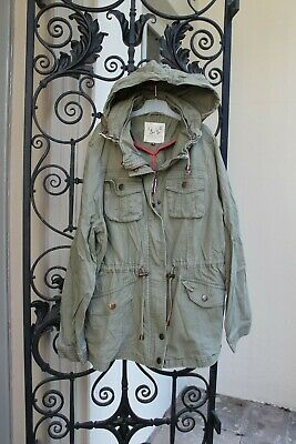 New Look Hudson & Rose Khaki Army Green Girls Camo Hood Coat,Jacket,16 years