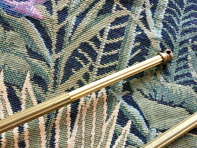 2 x Pretty Dainty  Antique French Brass Small Net Voile Curtain Rods Extendable