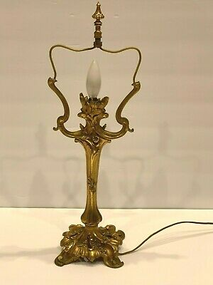 Stunning Art Nouveau French Bronze Table Lamp