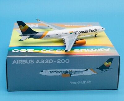JC WINGS LH4157 1//400 THOMAS COOK AIRLINES AIRBUS A330-200 REG G-MLJL W//ANTENNA