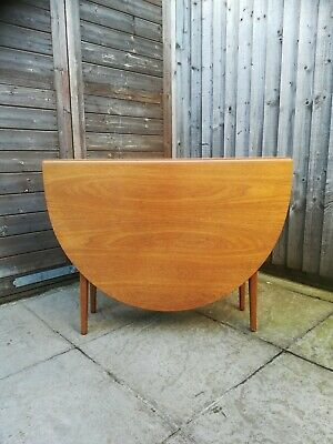 Mid Century Teak Drop Leaf Table By Alfred Cox
