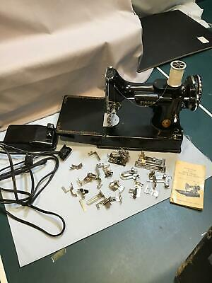 Singer Featherweight Sewing Machine 221-1 Made 1941 with case and Accessories