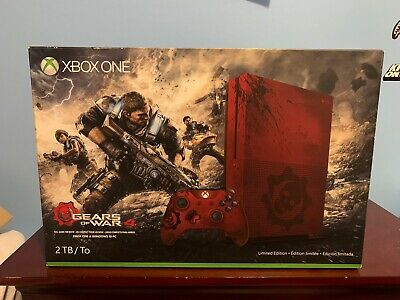 Microsoft Xbox One S Gears of War 4 Limited Edition Bundle 2TB Crimson Red...