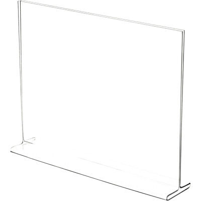 """Plymor Clear Acrylic Sign Display / Literature Holder (Top-Load), 12"""" W x 9"""" H"""