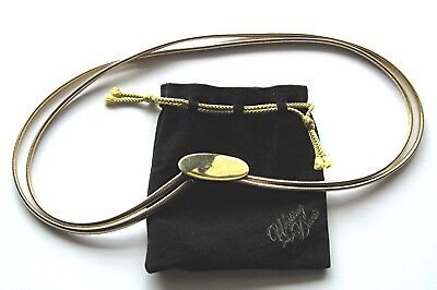 Whiting & Davis Gold Elastic Metal Belt Vintage As New Excellent condition