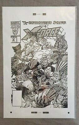 "X-Force #16 Large Production Art Cover Print - Greg Capullo 11"" x 17"""