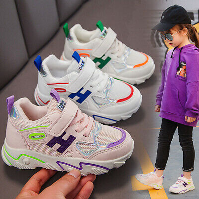 Kids Girls Shoes Children Casual Soft Outdoor Running Sports Sneakers Mesh Shoes