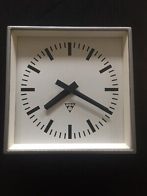 Original Vintage Industrial Pragotron Metal Factory Railway Clock 34 cms