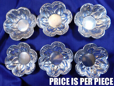 Rogers Floral Motif Sterling Silver Nut Dish #230 - Very Good Condition E